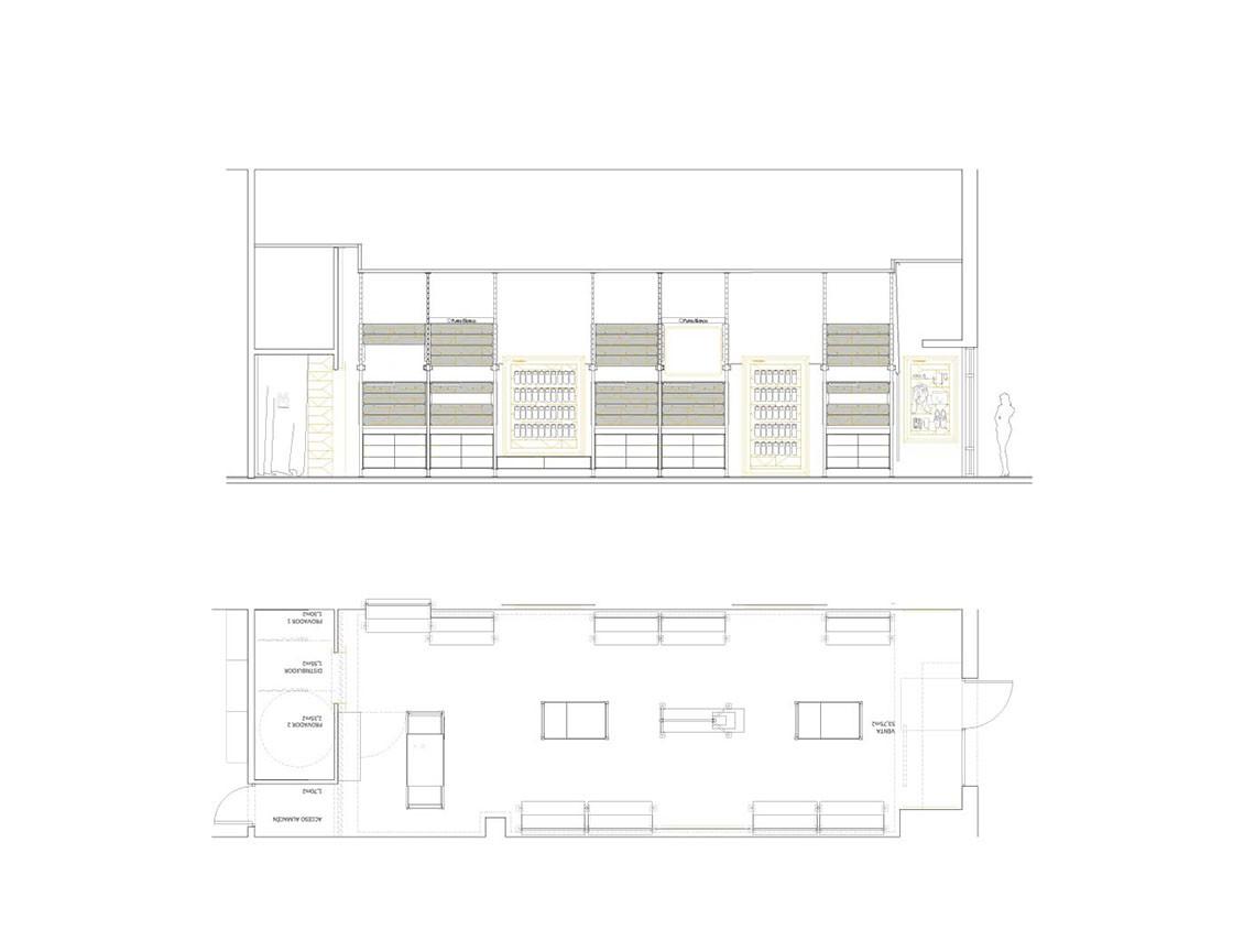 Punto Blanco_diseño interior_tienda plano