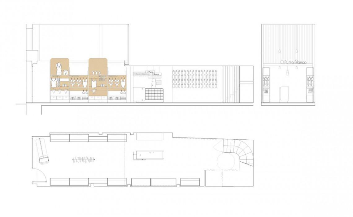Punto Blanco_diseño interior_tienda_plano
