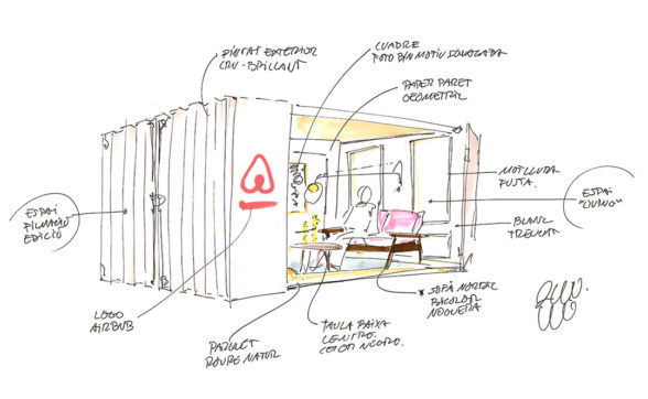 Croquis unidad móvil Airbnb